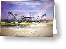 Hurricane Sandy Jetstar Roller Coaster Fantasy Greeting Card by Jessica Cirz