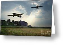 Hurricanes And The Donnelly Barn Greeting Card by Tom Straub