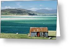 Hut On West Coast Of Isle Greeting Card by Rob Penn