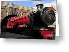 Hogwarts Express Train Work A Greeting Card by David Lee Thompson