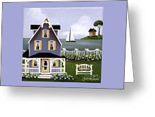 Hydrangea Cove Greeting Card by Catherine Holman