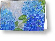 Hydrangeas On A Cloudy Day Greeting Card by Arlissa Vaughn