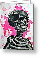 I Am Dead Inside Greeting Card by Ryno Worm  Tattoos