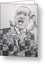 I Have A Dream Martin Luther King Greeting Card by Joshua Morton