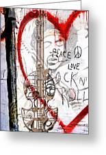 I Love Rocknroll Greeting Card by Joachim G Pinkawa