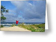 I See The Sea. Juodkrante. Lithuania Greeting Card by Ausra Paulauskaite