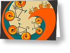 I Want To Ride My Bicycle Greeting Card by Jazzberry Blue
