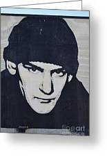 Ian Mackaye Greeting Card by Allen Beatty