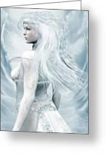 Ice Blue Greeting Card by Melissa Krauss