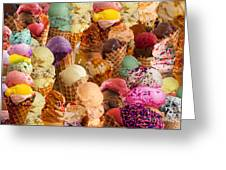 Ice Cream Crazy Greeting Card by Alixandra Mullins