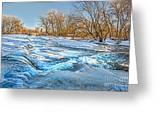 Ice Falls Greeting Card by Baywest Imaging
