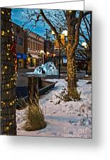 Ice Fountain Greeting Card by Baywest Imaging