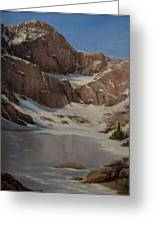 Ice Lake - July  Greeting Card by Mar Evers
