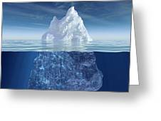 Iceberg Greeting Card by Boon Mee