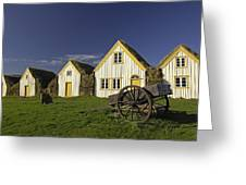 Icelandic Turf Houses Greeting Card by Claudio Bacinello