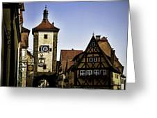 Iconic Rothenburg Greeting Card by Joanna Madloch