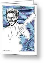 Icons- Chuck Berry Greeting Card by Jerrett Dornbusch