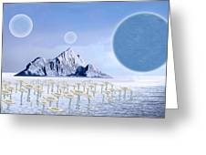Icy Desert Greeting Card by Piero Lucia
