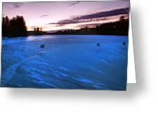 Icy Sunset Greeting Card by Joann Vitali
