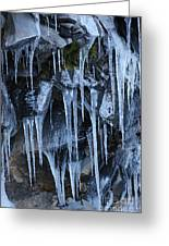Icycles On Cliff Greeting Card by Carol Groenen