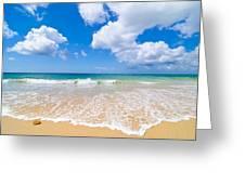 Idyllic Summer Beach Algarve Portugal Greeting Card by Amanda Elwell