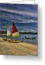 Idyllic Thai Beach Scene Greeting Card by David Smith