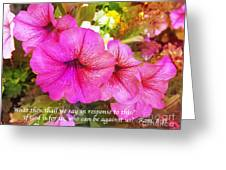 If God is For Us Who Can be Against Us Greeting Card by Maggie Vlazny