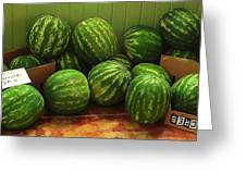If I Had A Watermelon Greeting Card by Patricia Greer