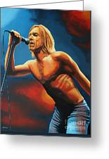 Iggy Pop Greeting Card by Paul  Meijering