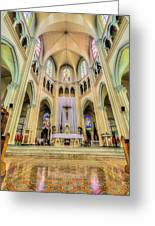 Iglesia De San Isidro De Coronado In Costa Rica Vertical Greeting Card by Andres Leon