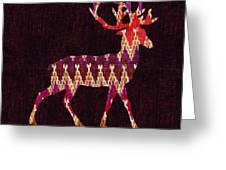 Ikat Deer Greeting Card by Budi Kwan