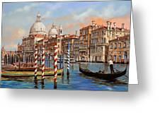 il canal grande Greeting Card by Guido Borelli