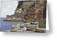 il porto di Sorrento Greeting Card by Guido Borelli