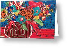 Ilana's Flower Arangement Greeting Card by Diane Fine
