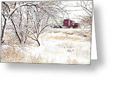 I'll Be Home For Christmas Greeting Card by Theresa Tahara