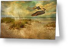 I'll Be Home In The Evening Greeting Card by Betsy A  Cutler