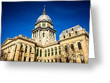 Illinois State Capitol Building In Springfield Greeting Card by Paul Velgos