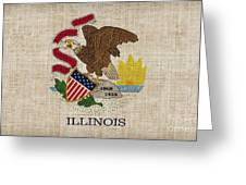 Illinois State Flag Greeting Card by Pixel Chimp