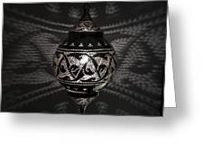 Illuminated Hanging Light Fixture Greeting Card by Keith Levit