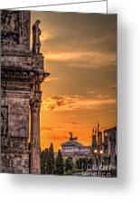 Illuminati Rome Greeting Card by Erik Brede