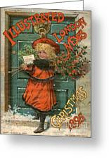 Illustrated London News 1890s Uk Holly Greeting Card by The Advertising Archives
