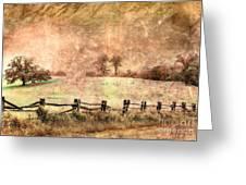 Imaginary Morning On The Blue Ridge II Greeting Card by Dan Carmichael