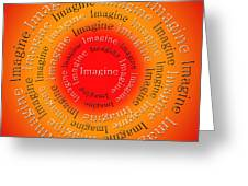 Imagine 5 Greeting Card by Andee Design
