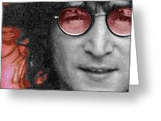 Imagine John Lennon Again Greeting Card by Tony Rubino
