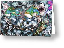 Imagine Number 2 Butterfly Art Greeting Card by Andy Prendy