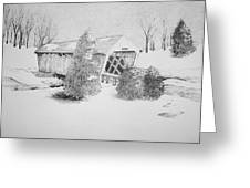 Imes Snow Bridge Greeting Card by Tammie Temple