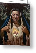 Immaculate Heart Greeting Card by Timothy Jones