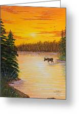 Immersed Greeting Card by David Bentley