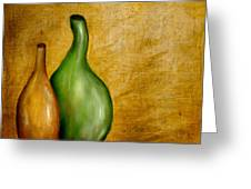 Imperfect Vases Greeting Card by Brenda Bryant