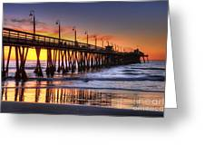 Imperial Beach Pier Greeting Card by Eddie Yerkish